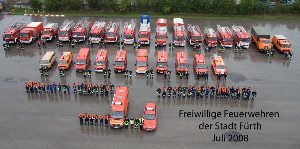 Gruppenbild der Freiwilligen Feuerwehren