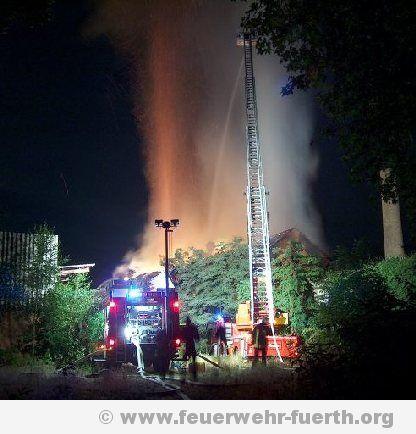 Brand in stillgelegtem Fabrikgebäude