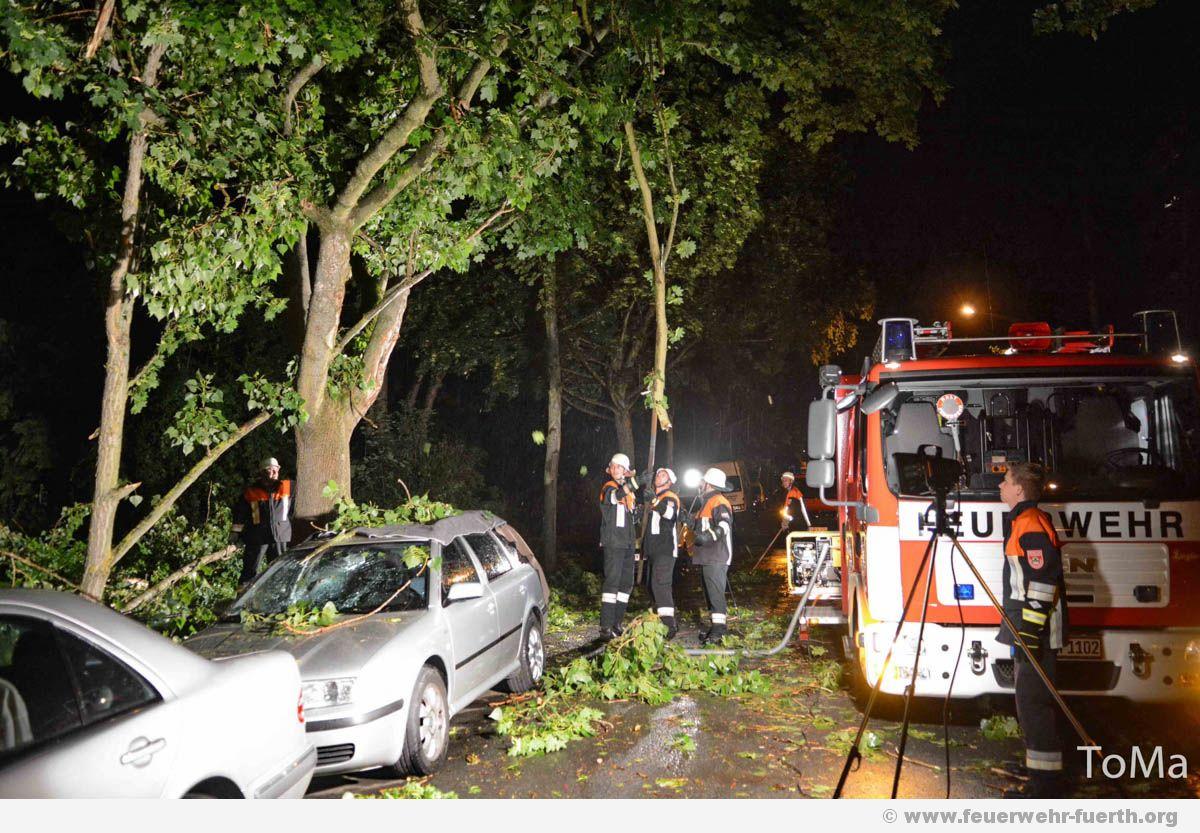 Unwettereins Tze Im Stadtgebiet F Rth Feuerwehr F Rth