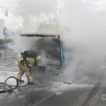 Pkw Brand in der Würzburger Straße