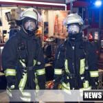 Feuerwehr mit schwerem Atemschutz