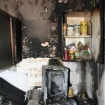 Ausgebrannte Küche