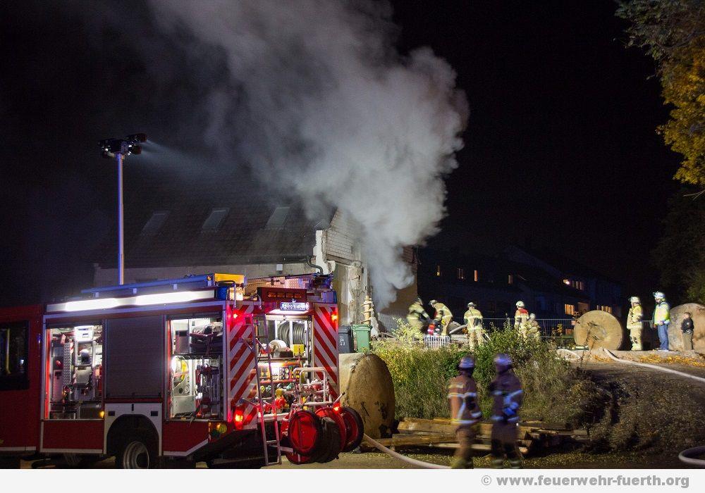Brand in leerstehenden Haus