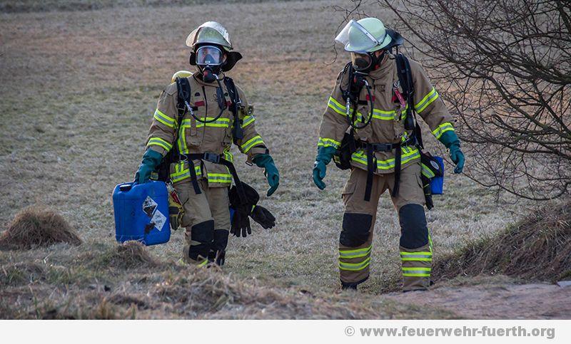 Kanister sorgt für Gefahrstoffeinsatz in Fürth
