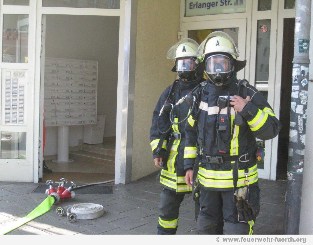 Atemschutztrupp in Bereitstellung