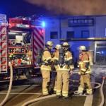 Brandeinsatz HLF und Trupps